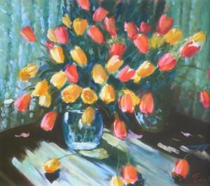 Тюльпани, 1981, 60x70
