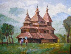 'Церква в Карпатах', 60х80