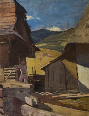 Village Courtyard , 1949