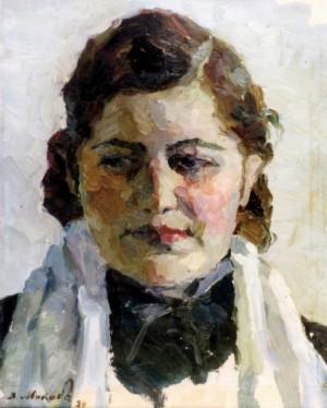 Дівчина (Етюд), 1954, к.о. 33х27