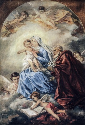 Madonna, 1944-1947, oil on canvas, 175x119