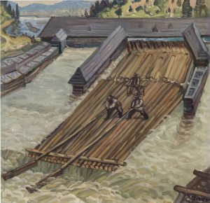 Last Raft, 1980, oil on canvas, 75x90