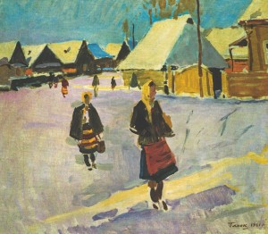 Rural Girls, 1961, oil on canvas, 69х79