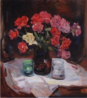 Натюрморт з трояндами, 1976, п.о. 80х70