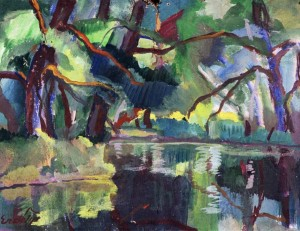 Пейзаж з річкою, к.о. 38х29