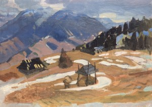 Remnants Of Winter, 1960, oil on canvas, 60x85