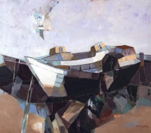Boats, 2002, oil on canvas, 60x70