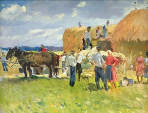 Haymaking, oil on canvas, 93x72,5