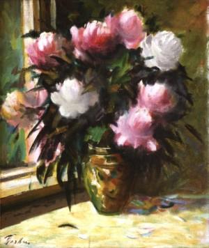 Улюблені квіти півонії, 1993, 70x60