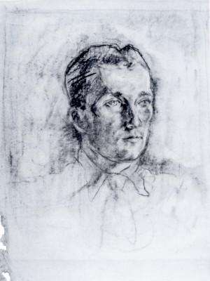 Mans Portrait, 1940, paper, 65x50