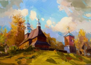 An Old Church in Likitsary Village, 2006, oil on canvas, 50x70