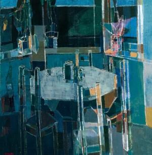 Glass Still Life, 2007, oil on canvas, 85x85