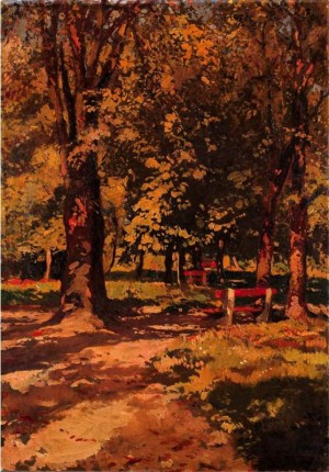City Park, 1945, oil on cardboard, 95,5х67