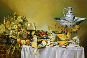 Remake. Magnificent Still Life., 2010, oil on canvas, 75x100