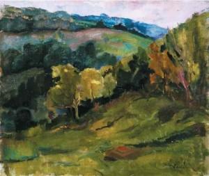 Пейзаж, кін. 1920-х, поч 1930-х, п.о. 51,5х60,5 (Аукціонний дім Корнерс)