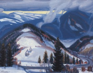 Mauntain Pass Of Synevyr, 1995, oil on canvas, 70x90