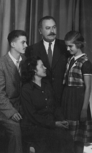 Family of F. Manailo, his wife Mariia, son Ivan, daughter Kateryna, the end of 1950s (Photo archive of I. Manailo)
