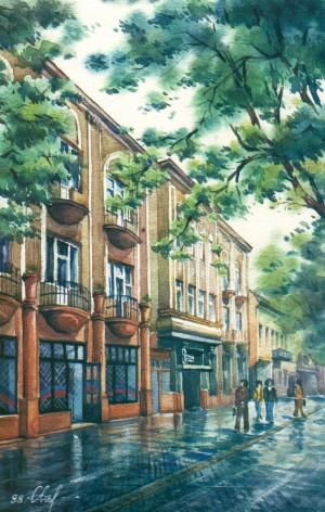Voloshyn street  1998 watercolour