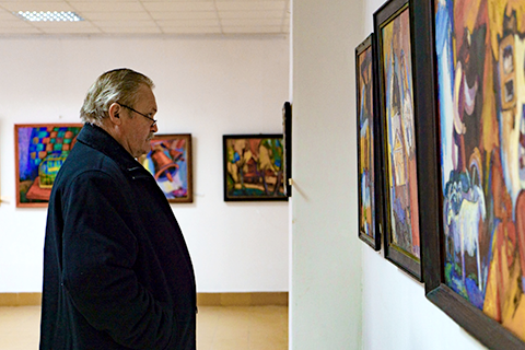 Jubilee exhibition of Vasyl Filesh