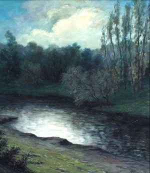 'Tree Near The Stream', 1935, oil on canvas, 75x66.png