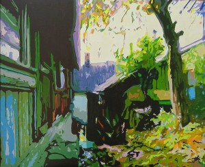 'Yard', 2012, oil on canvas, 57x70
