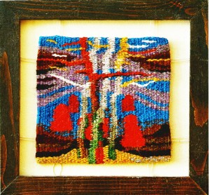 Autumn In The Mountains, 2001, mini tapestry, 20x21