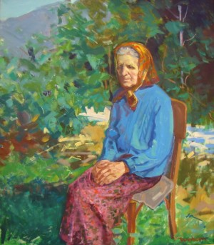 Aunt From Dubove Village, 2009, oil on canvas, 80х70