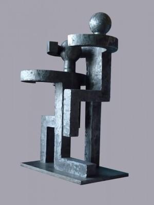 Сліпі, 2000, дюралюміній, 46х21х32