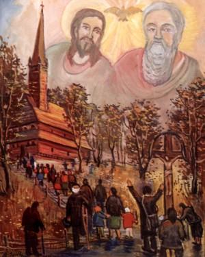 Дорога до Бога, 2000, п.о., 100х80