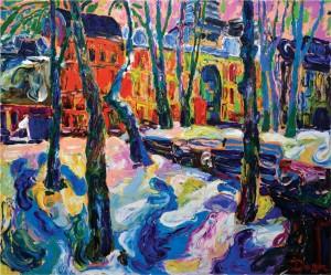Київ. Парк Золоті ворота, 2008, п.о., 100х120