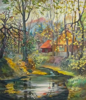 R. Dorozhnikova 'Autumn In Vyznytsia Village'