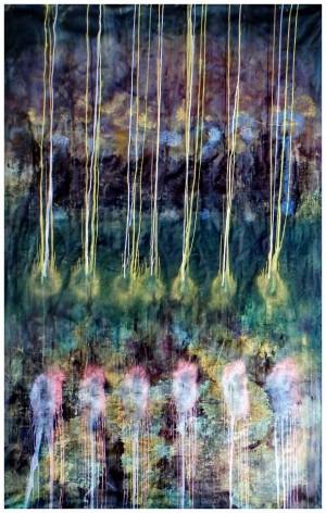 Ліхтарі, 2015, ткан,, вільний розпис, 210х150