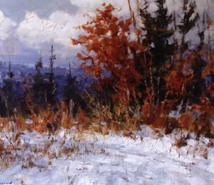 Зима, 2011, п.о., 80х100