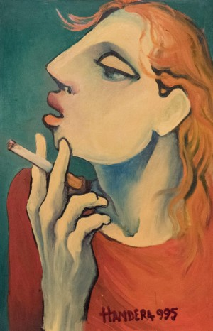 A Redhead Woman With A Cigarette, 1995