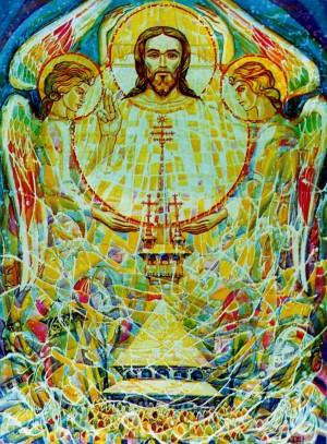 Христос-світло, 2000, орг.акрил, 119х90