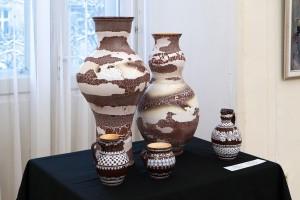 Декоративні вази, 2017, кераміка, глазур