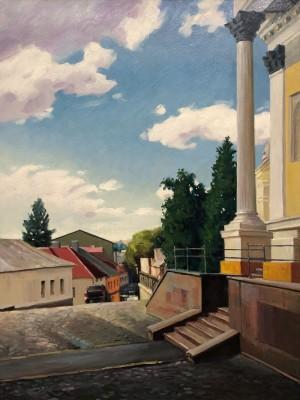 'Дорога від храму', 2011, п.о., 80х60