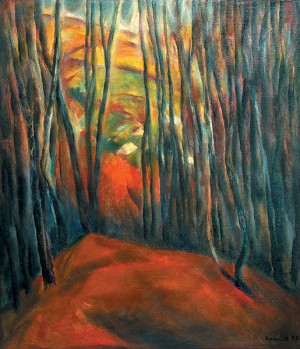 Edge of The Forest, 1992, oil on canvas, 70x60