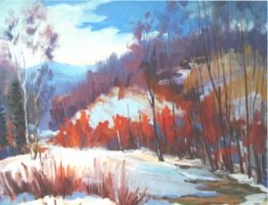 Frozen, 2014, oil on canvas, 60х70