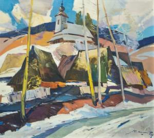 Кашшай А. Старе село взимку, 1960-ті, п.о., 91х100,5
