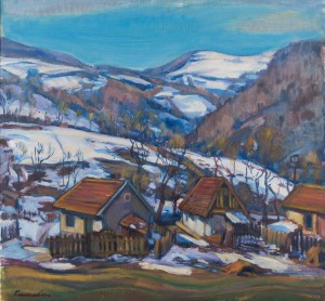 E. Kontratovych  The end of winter, 1975