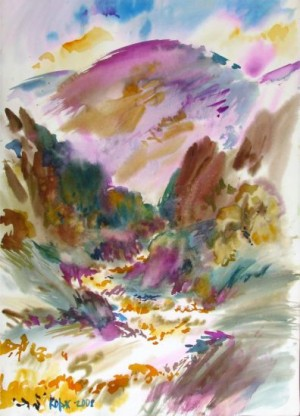 Nyzhnii Bystryi. It Cleared Up, 2008, watercolour on paper, 70х50