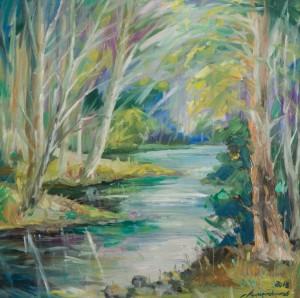 Біля річки, 2013, п.о., 60х58