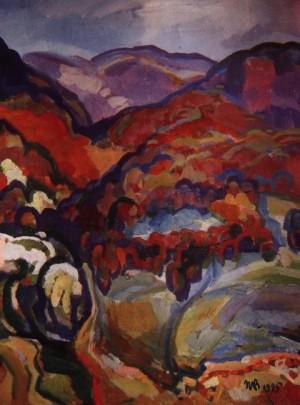 Карпатська осінь, 1995, карт., о., 60х50