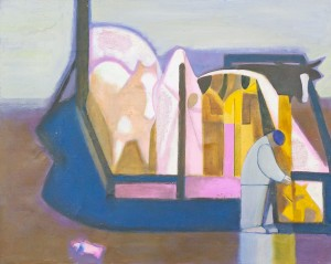 V. Petrov 'Ferry-boat', 1993, oil on canvas
