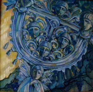 'Гора Шаян', 2005, п.о., 50х70