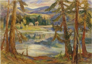 Fantastic Lake  Synevyr, 2007, oil on canvas,  70х100