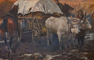 'Camp Cart Harnessed By Oxen' (Fragment Of 'Transylvanian Panorama', 1897)