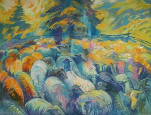 Sheepfold, 2010,acrylic on canvas, 100x130