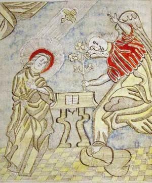 Мініатюра  Благовіщення. Акафіст, 1788-1789